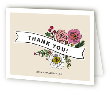 Wildflower Label Thank You Cards