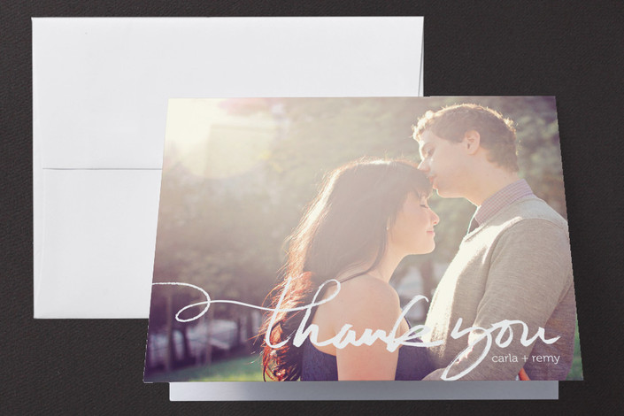 """""""Quickly Penned"""" - Hand Drawn, Modern Thank You Cards in Chalk by Laura Condouris."""