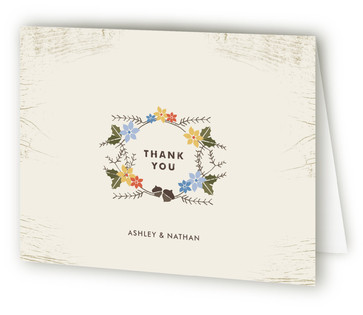 Woodsy Pair Thank You Cards