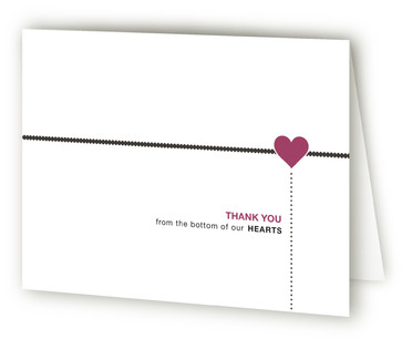 A Love Story Thank You Cards