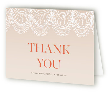 Mantilla Spanish Lace Thank You Cards