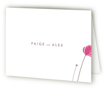 Poppy and Paint Redux Thank You Cards