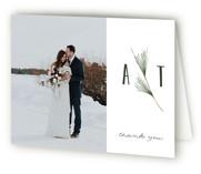 Rustic Wedding Folded Thank You Card