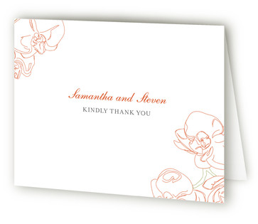 Beloved Orchid Thank You Cards