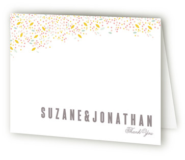 Modern Dotted Blooms Thank You Cards