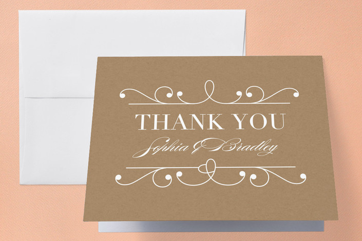 """Arabesque"" - Formal, Classical Thank You Cards in Midnight by Griffinbell Paper Co.."