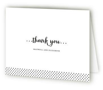 Simple Type Thank You Cards