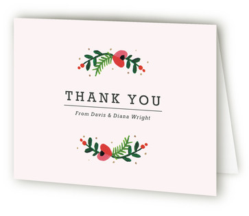 Simple Flora Thank You Cards