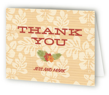 Tiki Luau Thank You Cards