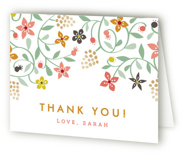 Botanical Affair Thank You Cards