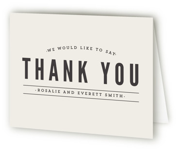 Classic Type Thank You Cards