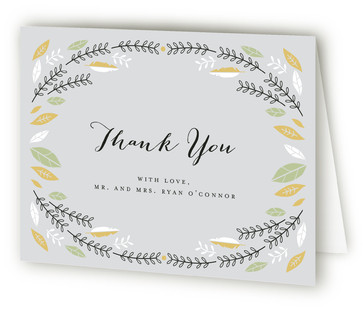 Bohemian Wreath Thank You Cards