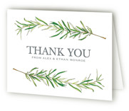 Simple Sprigs Folded Thank You Card