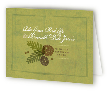 Rustic Pinecones Thank You Cards