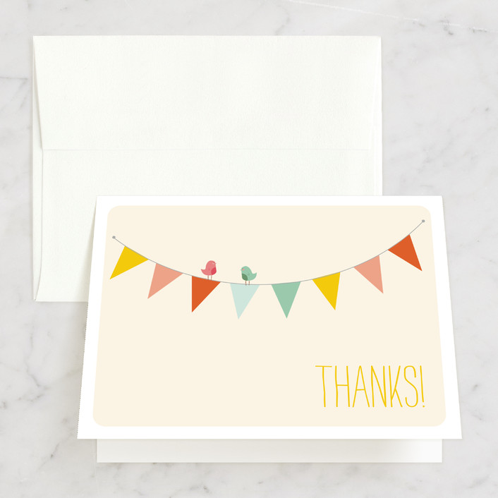 """Barn Party!"" - Thank You Cards in Peach by ZucchiniPress."