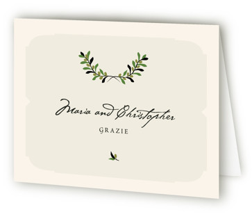 Italiano Thank You Cards