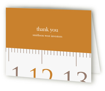 Measuring Tape Thank You Cards