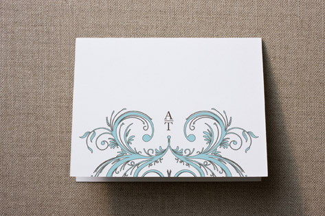 Letter Swirl Thank You Cards