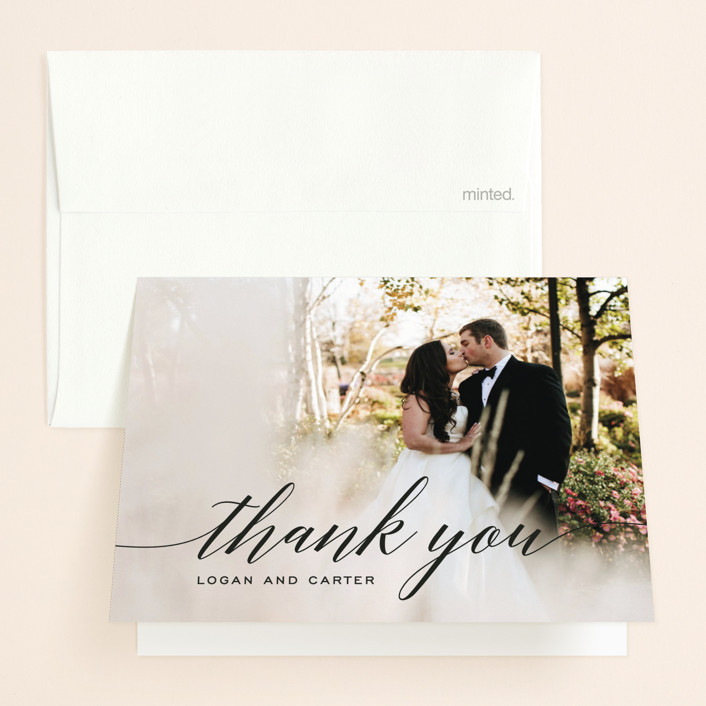 """Someone Like You"" - Elegant, Classical Thank You Cards in Tuxedo by Design Lotus."