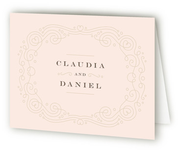 Art Deco Filigree Thank You Cards