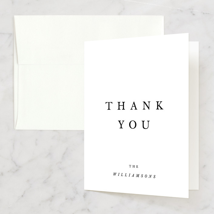 """""""Johannis"""" - Simple, Bold typographic Thank You Cards in Ink by Jack Knoebber."""