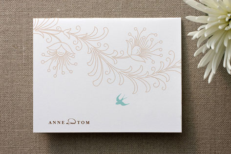 Pretty Little Bird Thank You Cards