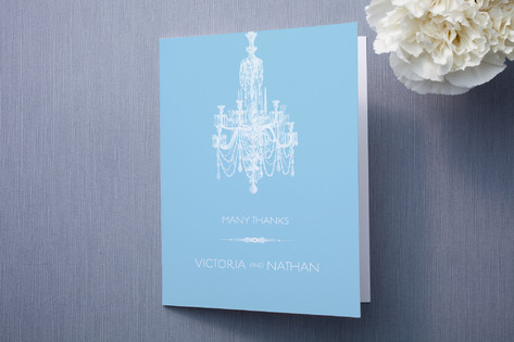 Chandelier Thank You Cards