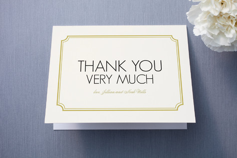 Modern Classic Thank You Cards