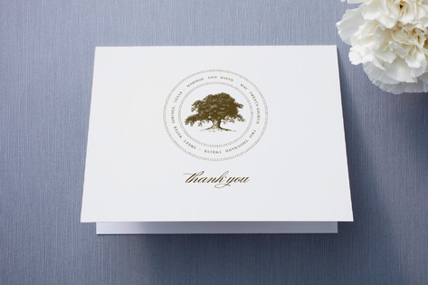 Modern Crest Thank You Cards