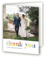 Modern Muse Folded Thank You Card