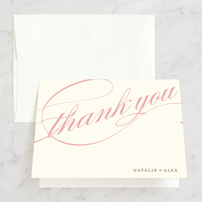 """""""Winter Flourish"""" - Classical, Elegant Thank You Cards in Robin's Egg by annie clark."""
