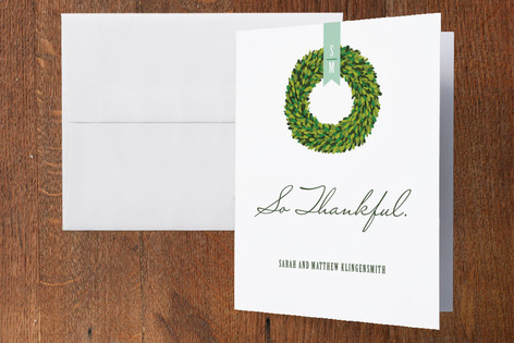 Boxwood Thank You Cards