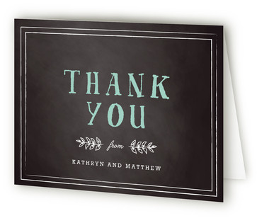 Floral Chalkboard Thank You Cards
