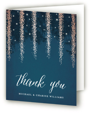 Strands Of Lights Thank You Cards