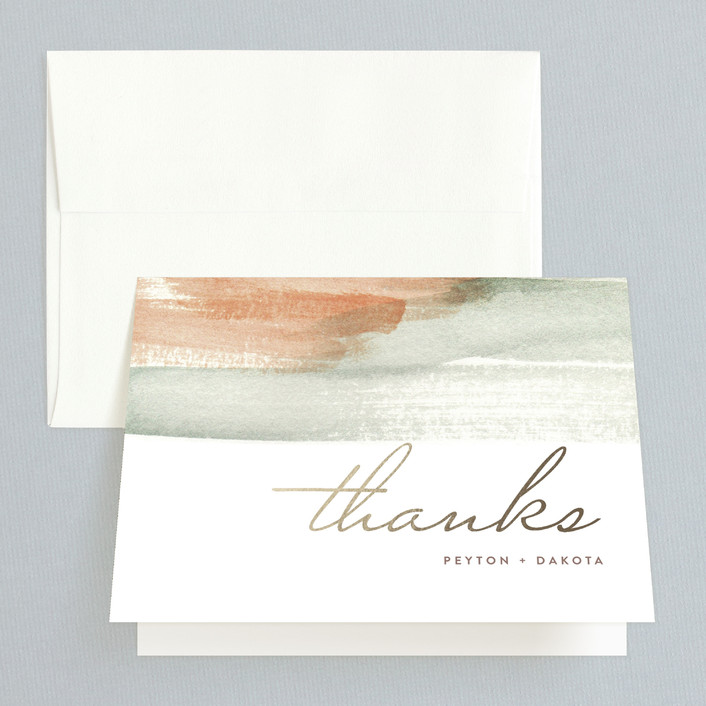 """""""Canyon"""" - Modern, Abstract Thank You Cards in Sienna by Kelly Nasuta."""