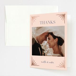Beaming Foil-Pressed Folded Thank You Card