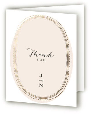 Gold Portrait Foil-Pressed Thank You Cards