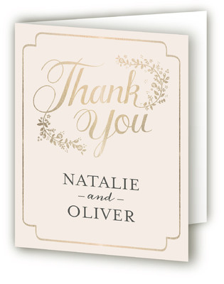Golden Grace Foil-Pressed Thank You Cards
