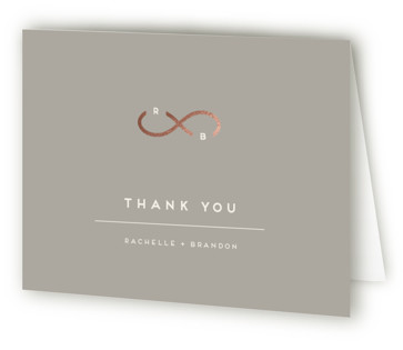 Monogrammed Infinity Foil-Pressed Thank You Cards