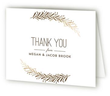 Framed Wreath Foil-Pressed Thank You Cards