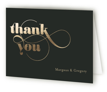 Swirling Romance Foil-Pressed Thank You Cards