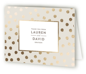 Devoted Foil-Pressed Thank You Cards
