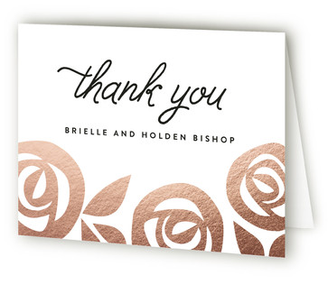 Flora Grande Foil-Pressed Thank You Cards