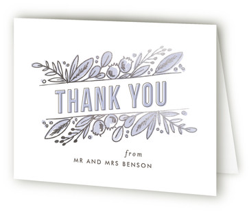 Floral Stack Foil-Pressed Thank You Cards