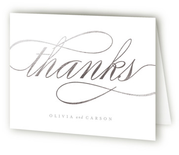 Mist Foil-Pressed Thank You Cards