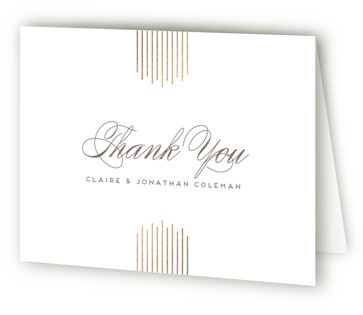 A Golden Age Foil-Pressed Thank You Cards