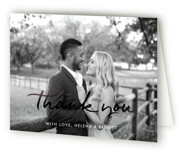 Modern Gallery Foil-Pressed Folded Thank You Card