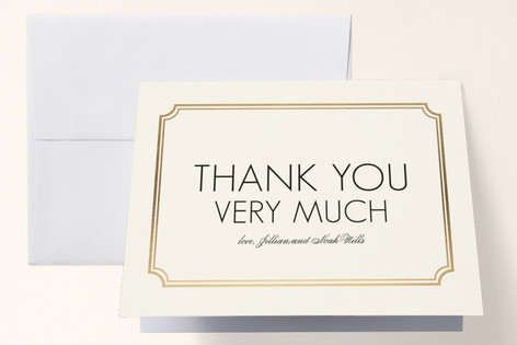Modern Classic Foil-Pressed Folded Thank You Card