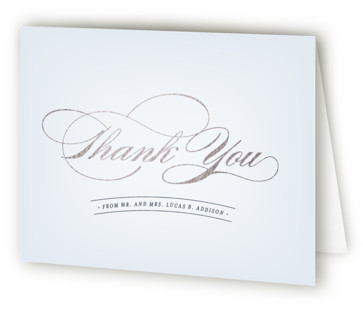Big City NY Foil-Pressed Thank You Cards