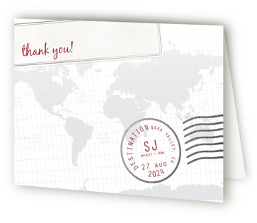 A Faraway Destination Foil-Pressed Thank You Cards